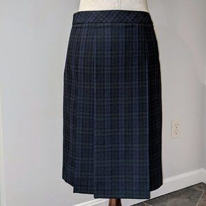 """Brooks Brothers """"346"""" Pleated Lined Plaid Skirt"""